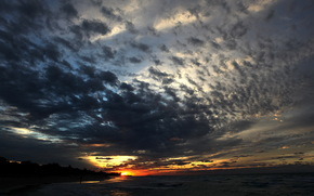 tramonto, varadero, sera, nuvole