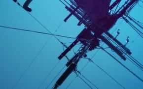 column, wire, line