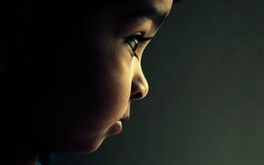 ребенок, лицо, взгяд