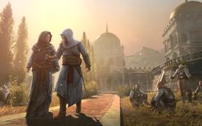 Altair Ibn La-Ahad - Assassin, fortress, City masiaf, female Templar Maria Thorpe