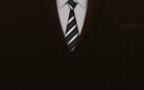 suit, coat, shirt, tie, buttons