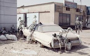 droids, car, postmodern