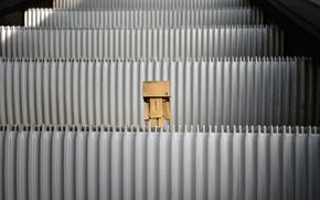 коробка,  игрушка,  картон,  эскалатор,  ступенки
