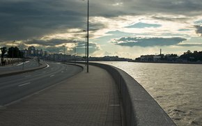 embankment, St. Petersburg, Peter, petersburg, evening, Neva