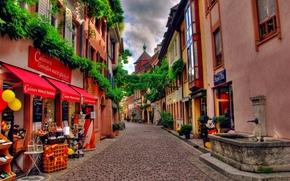 швейцария,  улочка,  мостовая,  магазинчики