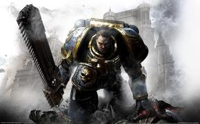 chainsaw, Space Marines, Captain Titus