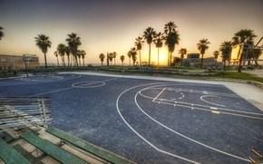 Los Angeles, California, sunset