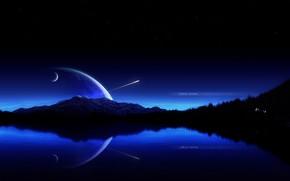 odbicie, planeta, rakieta