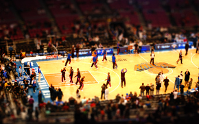 Tilt Shift, New York, Nix, training, NBA, hall, area, Sport, basketball, audience, arena, wallpaper
