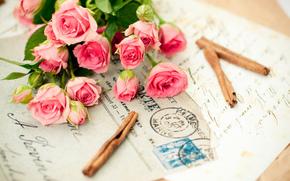 цветок,  цветы,  букеты,  розы,  розы,  букет,  розовый,  письмо,  воспоминания,  романтика,  любовь