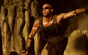 The Chronicles of Riddick, Vin Diesel, Mark Sinclair Vincent, actor, screenwriter, director, producer, man, muzhik, bald, dirty