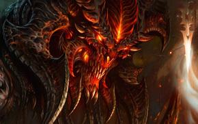 mostro, rosso, demone, corno, fiamma, fuoco, paura, orrore, sangue