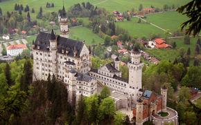 замок,  нойшванштайн,  пейзаж,  бавария