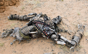 падший терминатор, robot, железо, metal