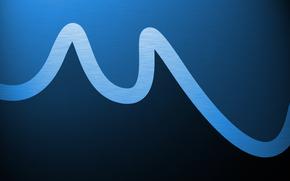 Abstraccin, lneas, los patrones de, pinturas, azul, ondas