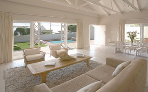 home, villa, luxury, room, interior, Sofas, chair, pool, table, wallpaper
