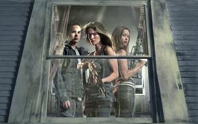terminatore, The Sarah Connor Chronicles, Summer Glau, Thomas Dekker, Lena Headey, finestra