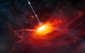 类星体, 喷出