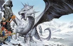 драконы, обои, уэйн рейнольдс