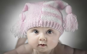 child, infant, Beanie, girl, view
