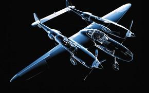 самолет, прозрачный, модель