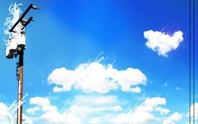 sky, landscape, nature, blue, wallpaper is