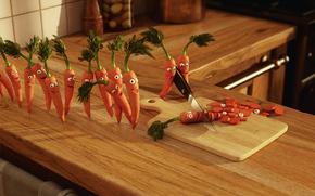 carota, cucina, omicidio, gioia