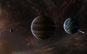 звезды,  планеты,  межзвездный газ,  газовый гигант
