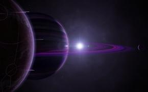 бесконечность,  звездная система,  планеты,  звезда,  кольца