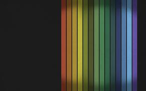ligne, couleurs de l'arc en ciel, srie