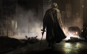 крёстный отец,  мафия,  гангстер,  город,  ночь