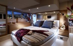 interior, design, situation, furniture, cabin, bed, dress, handbag