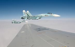 ввс,  россии,  истребитель,  самолёт,  крыло,  пилот,  небо,  полёт,  обои