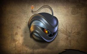 robot, anger, fire, monster