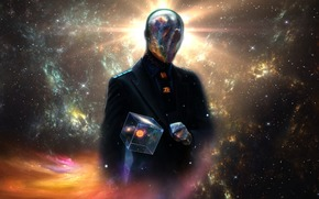 Espacio, universo, Planeta, sol, Estrella, plata, extraterrestre