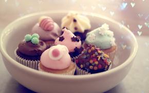 пирожные, тарелка, десерт, праздник, еда, настроение