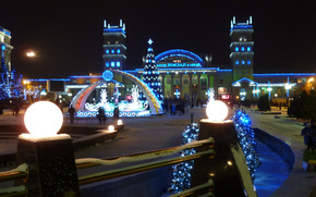 Kharkiv, Railway Station Square, New Year