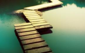 traccia, sentiero, acqua, verde