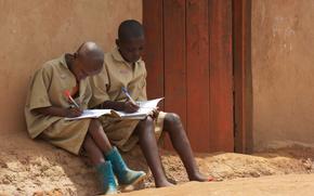 африка, школьники