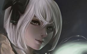 Art, anime, girl, face