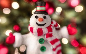 Ao Nuevo, fiesta, mueco de nieve, bufanda, tapa, botones, tejido, juguete, sonrer, alegra, luces, Ao Nuevo