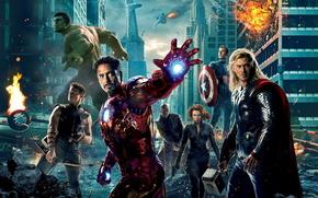 Avengers, Il primo vendicatore, Captain America, L'uomo di ferro, Carcassa, La Vedova Nera, Occhio di Falco, Nick Fury, toro, Avengers, film, Film, film