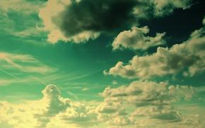 sky, clouds, fantasy, sun