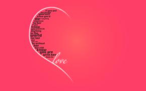 праздник, день святого валентина, день всех влюбленных, половинка, сердце, слова, признание, чувства, любовь, розовый фон