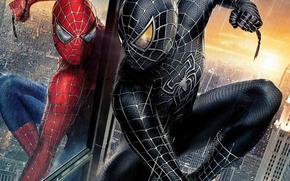 Spiderman, rosso, nero, eroe, film, Film, film