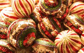 New Year, holiday, New Wallpaper, Christmas balls, Christmas decorations, New Year