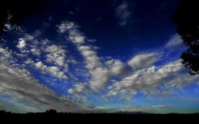 Перистые, облака, небо