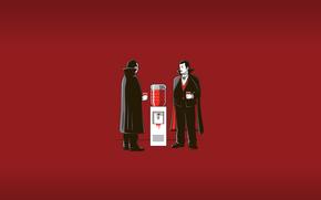 cooler, blood, Vampires, smoko, office