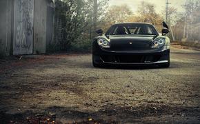 car, porsche, black, cars, machinery, Car