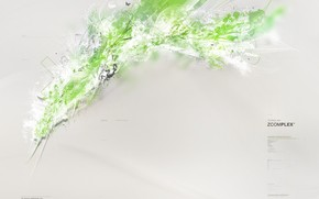 обоя, зеленый, брызги, фон, серый